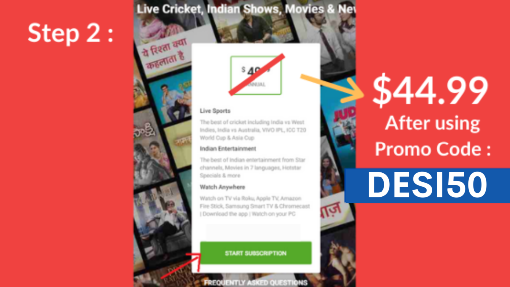 Watch 2020 IPL Live Streaming on Hotstar USA with Hotstar IPL Offer Code : DESI50