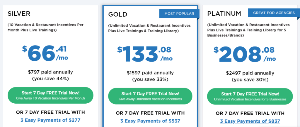 Marketing Boost prices